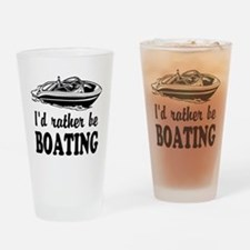 Id rather be boating Drinking Glass