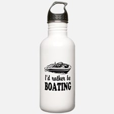 Id rather be boating Water Bottle