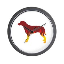 Curly Flames Wall Clock