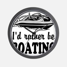 Id rather be boating Wall Clock