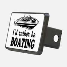 Id rather be boating Hitch Cover