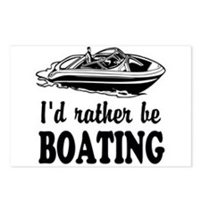 Id rather be boating Postcards (Package of 8)