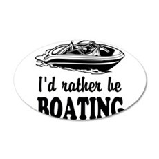 Id rather be boating Wall Decal