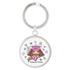 Graduation Princess 2014 Round Keychain