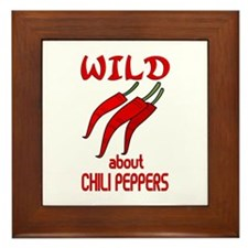 Wild About Chili Peppers Framed Tile