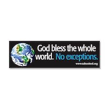 Unique God bless the whole world Car Magnet 10 x 3