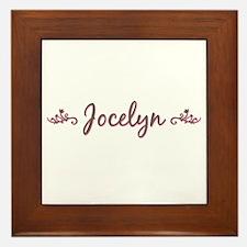 """""""Elegant Jocelyn"""" Framed Tile"""