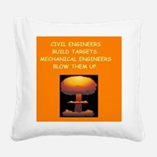 engineering Square Canvas Pillow