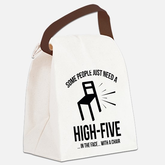 Some People Deserve A High-Five Canvas Lunch Bag
