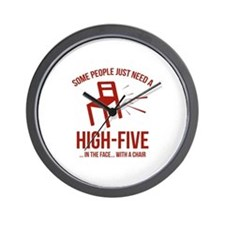 Some People Deserve A High-Five Wall Clock