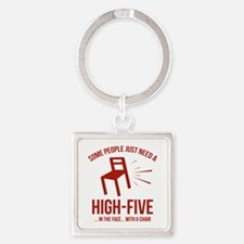 Some People Deserve A High-Five Square Keychain