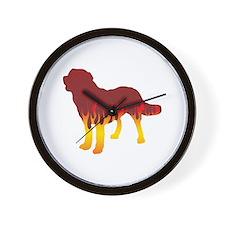 Chinook Flames Wall Clock