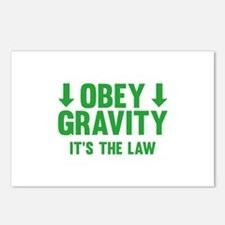 Obey Gravity. It's The Law. Postcards (Package of