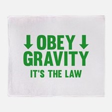Obey Gravity. It's The Law. Stadium Blanket