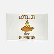 Wild About Burritos Rectangle Magnet
