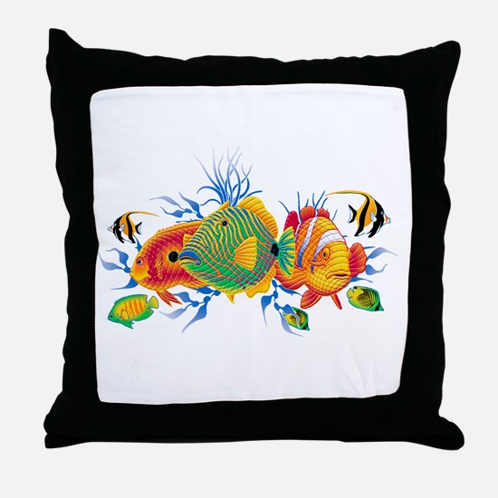 Funny Coral reef Throw Pillow