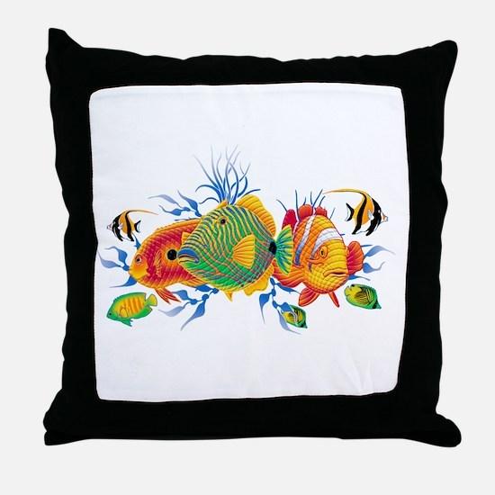 Cute Aquatic life Throw Pillow