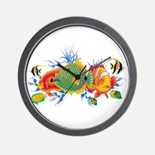 Cute Coral reef Wall Clock
