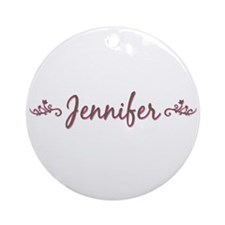"""Elegant Jennifer"" Ornament (Round)"
