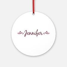 """Elegant Jennifer"" Ornament (Round)"