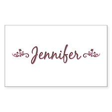 """Elegant Jennifer"" Rectangle Decal"