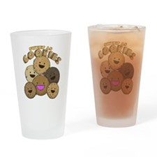 retro cookie Drinking Glass
