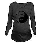 Yin-Yang Long Sleeve Maternity T-Shirt