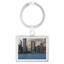 Chicago Get a Flu Shot Landscape Keychain