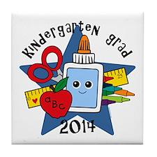School Supplies K-Grad 14 Tile Coaster