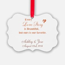 Personalize Bride Groom Ornament