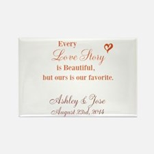 Personalize Bride Groom Magnets