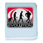 Evolution Soccer baby blanket