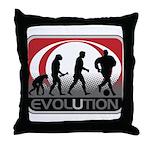 Evolution Soccer Throw Pillow