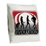 Evolution Soccer Burlap Throw Pillow