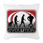 Evolution Soccer Woven Throw Pillow