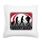 Evolution Soccer Square Canvas Pillow