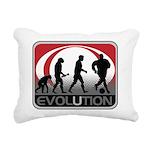 Evolution Soccer Rectangular Canvas Pillow