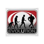 Evolution Soccer Throw Blanket