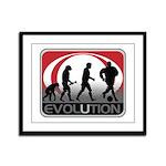 Evolution Soccer Framed Panel Print