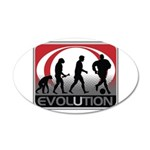 Evolution Soccer 35x21 Oval Wall Decal
