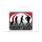 Evolution Soccer Rectangle Car Magnet