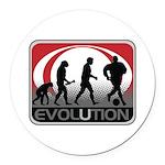 Evolution Soccer Round Car Magnet