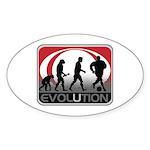 Evolution Soccer Sticker (Oval)