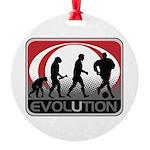 Evolution Soccer Round Ornament