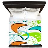 Atomic era Luxe King Duvet Cover