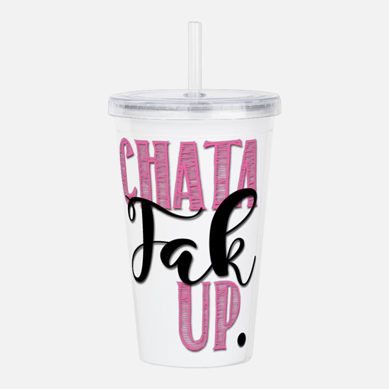 chata fup blk Acrylic Double-wall Tumbler