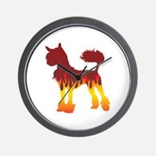 Crested Flames Wall Clock