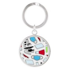 Cute Laboratory Pattern Keychains
