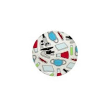 Cute Laboratory Pattern Mini Button