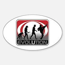 Evolution Martial Arts Sticker (Oval)